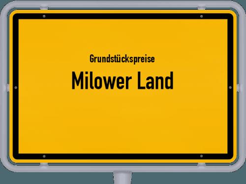 Grundstückspreise Milower Land 2021