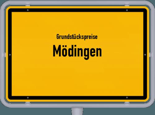 Grundstückspreise Mödingen 2019