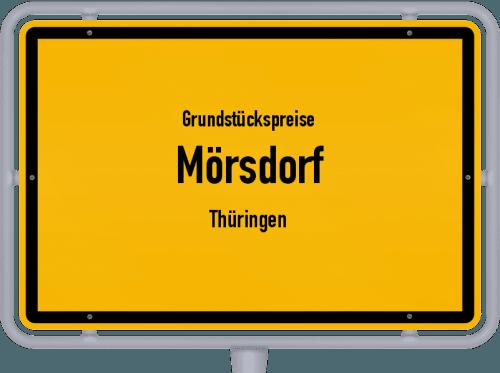 Grundstückspreise Mörsdorf (Thüringen) 2019
