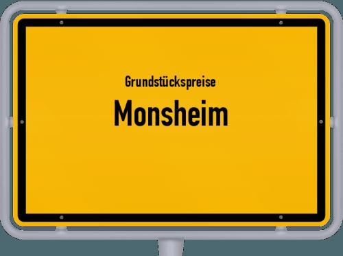Grundstückspreise Monsheim 2019