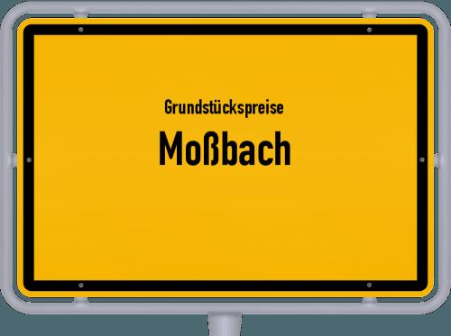 Grundstückspreise Moßbach 2019