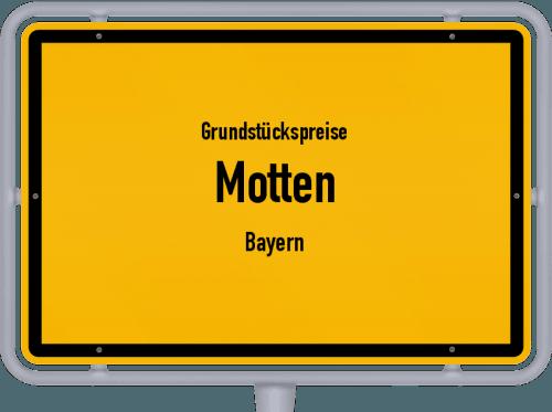 Grundstückspreise Motten (Bayern) 2019