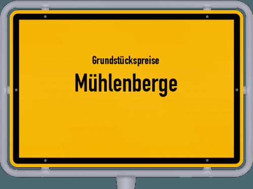 Grundstückspreise Mühlenberge 2021