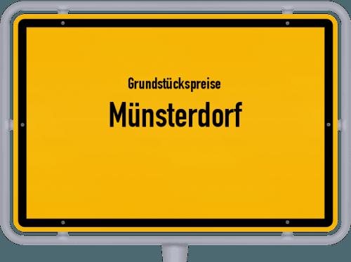 Grundstückspreise Münsterdorf 2021