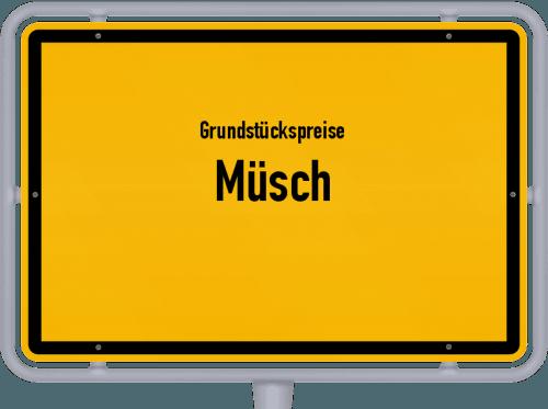 Grundstückspreise Müsch 2019