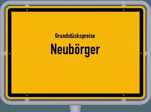 Grundstückspreise Neubörger 2019