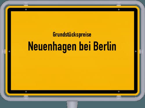 Grundstückspreise Neuenhagen bei Berlin 2021