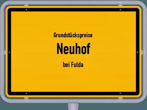 Grundstückspreise Neuhof (bei Fulda) 2020