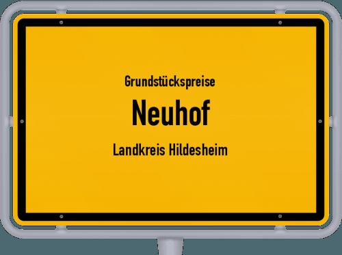 Grundstückspreise Neuhof (Landkreis Hildesheim) 2021