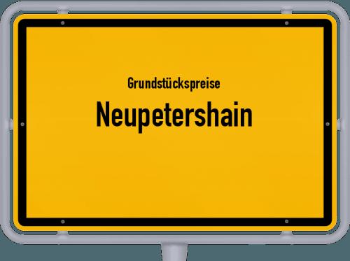 Grundstückspreise Neupetershain 2021