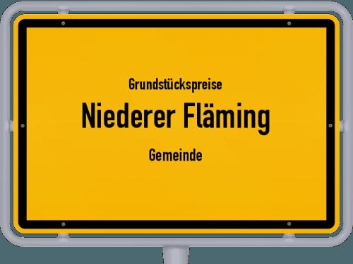 Grundstückspreise Niederer Fläming (Gemeinde) 2021