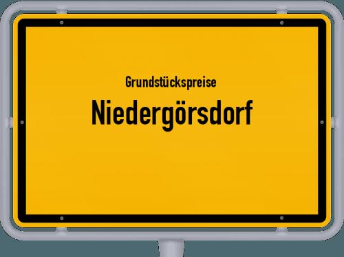 Grundstückspreise Niedergörsdorf 2021