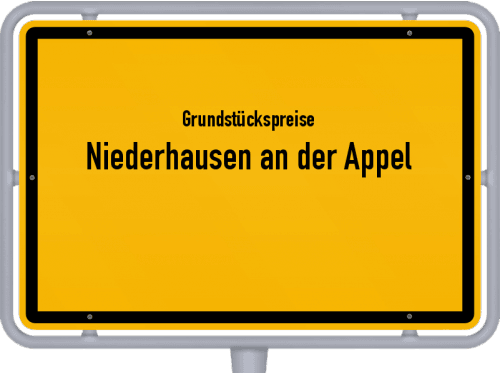 Grundstückspreise Niederhausen an der Appel 2019