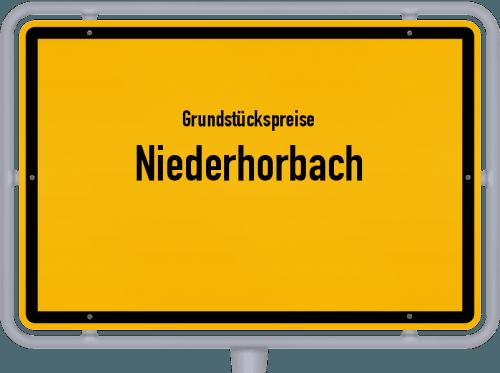 Grundstückspreise Niederhorbach 2019