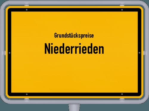 Grundstückspreise Niederrieden 2019