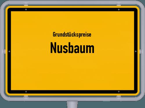 Grundstückspreise Nusbaum 2019