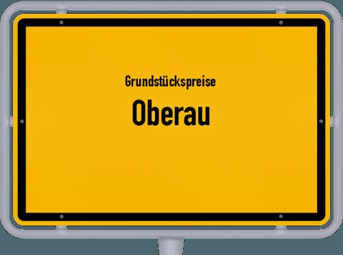 Grundstückspreise Oberau 2019