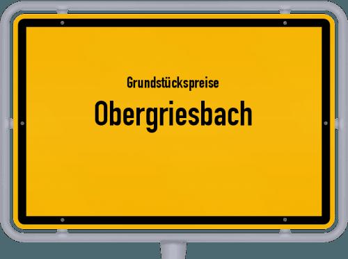 Grundstückspreise Obergriesbach 2019