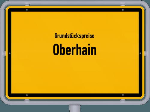 Grundstückspreise Oberhain 2019
