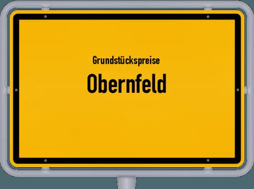 Grundstückspreise Obernfeld 2021