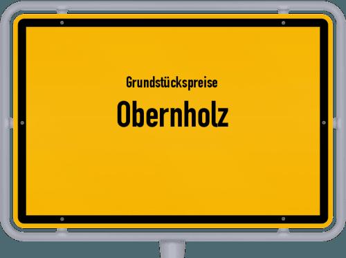 Grundstückspreise Obernholz 2021