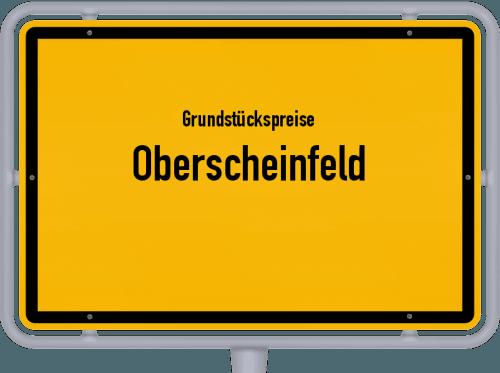 Grundstückspreise Oberscheinfeld 2021