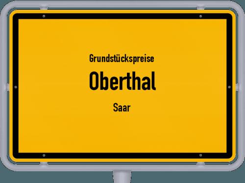 Grundstückspreise Oberthal (Saar) 2021