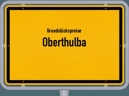 Grundstückspreise Oberthulba 2019