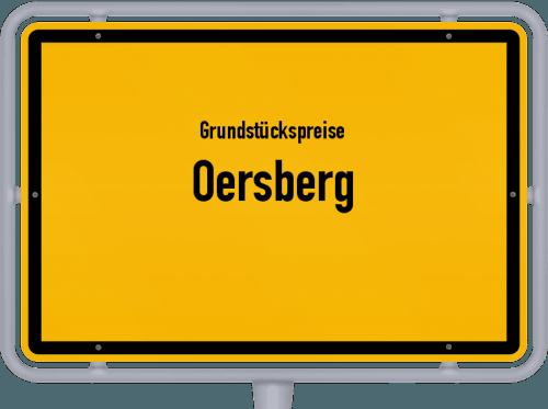 Grundstückspreise Oersberg 2021