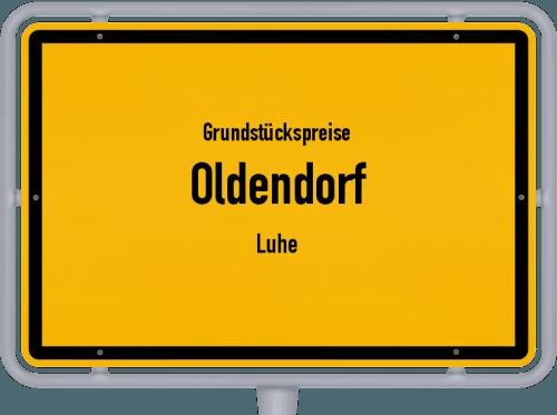 Grundstückspreise Oldendorf (Luhe) 2021