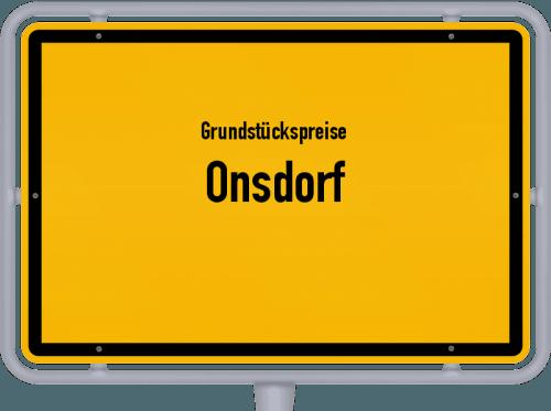 Grundstückspreise Onsdorf 2019