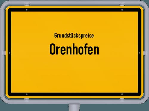 Grundstückspreise Orenhofen 2019