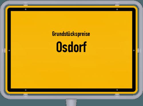 Grundstückspreise Osdorf 2021