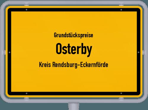Grundstückspreise Osterby (Kreis Rendsburg-Eckernförde) 2021