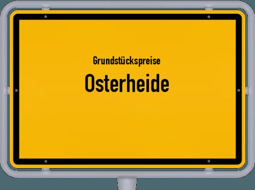 Grundstückspreise Osterheide 2021