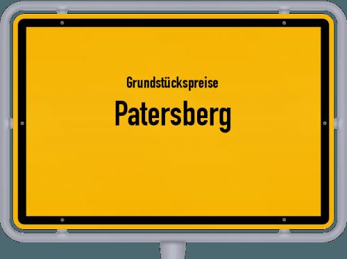 Grundstückspreise Patersberg 2020
