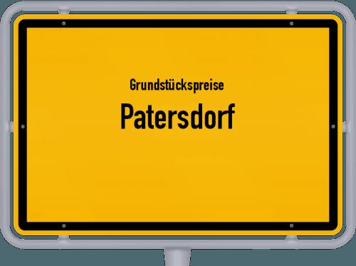 Grundstückspreise Patersdorf 2019