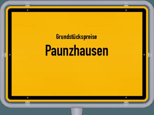 Grundstückspreise Paunzhausen 2021