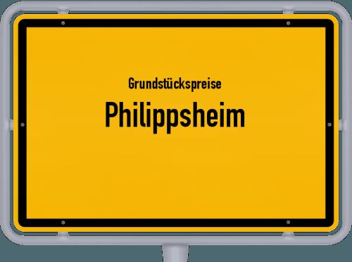Grundstückspreise Philippsheim 2019