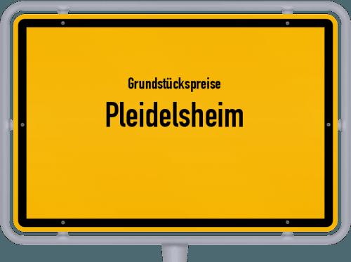 Grundstückspreise Pleidelsheim 2021