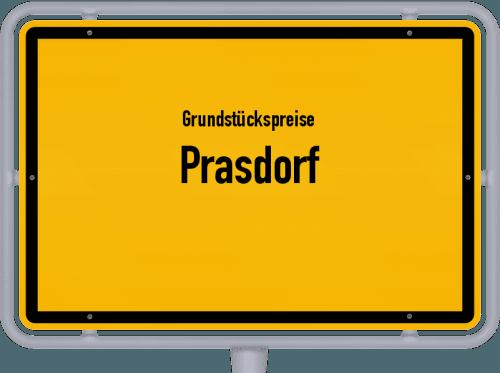 Grundstückspreise Prasdorf 2021