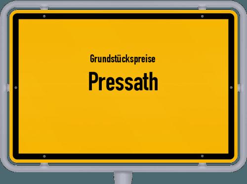 Grundstückspreise Pressath 2019