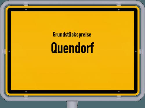 Grundstückspreise Quendorf 2019