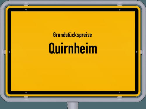 Grundstückspreise Quirnheim 2019