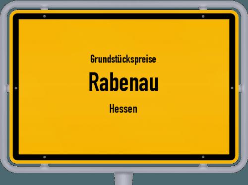Grundstückspreise Rabenau (Hessen) 2019