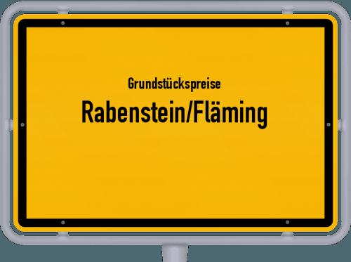 Grundstückspreise Rabenstein/Fläming 2021