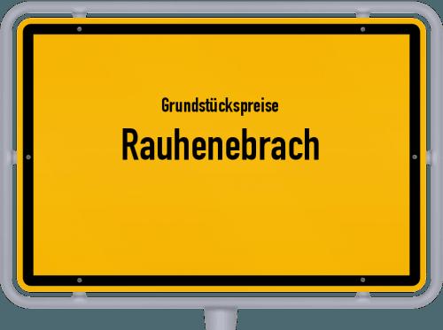 Grundstückspreise Rauhenebrach 2019