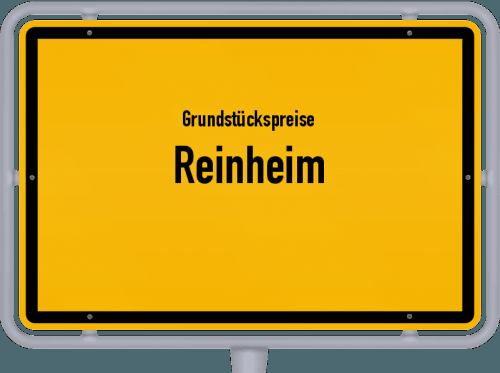 Grundstückspreise Reinheim 2019