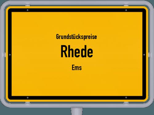 Grundstückspreise Rhede (Ems) 2019