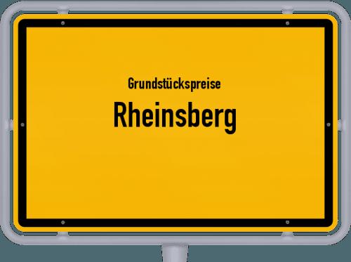Grundstückspreise Rheinsberg 2021